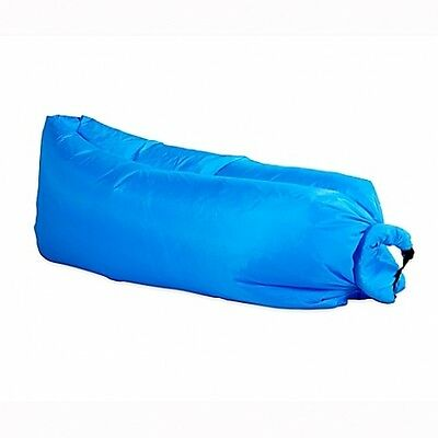 The Pouch Couch Inflatable As Seen On TV Official Lounger Air Seating Blue Seat
