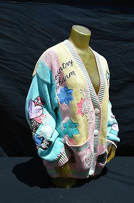 Vintage 80's absolutely NO jeans sweater baroque royalty swag grandma chic BOHO