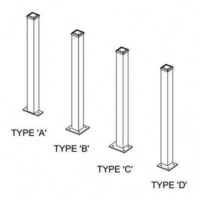 Bolted Steel Fence Posts 75 x 75 shs 1.8m