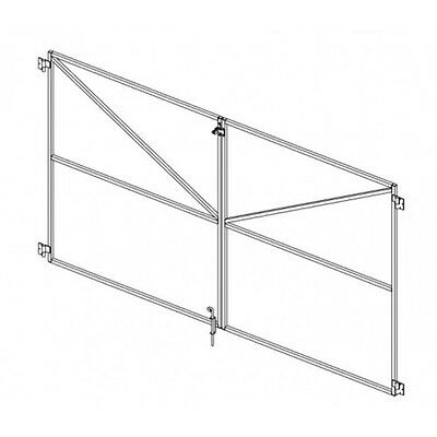 G 1800 Paling Type Double Gate Frame 3.0