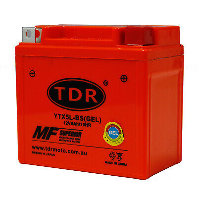 YTX5L-BS Dirt Bike GEL Battery for Yamaha TTR230 CRF230F CRF250X CRF150 RACING