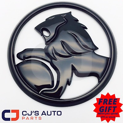 Gloss Black 130mm Lion Badge Suit Commodore Grille VE VF SV6 SS SSV Calais