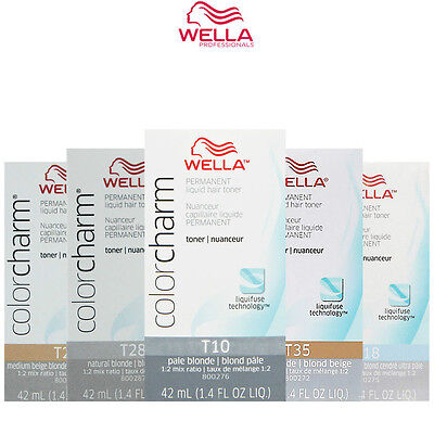 Wella Color charm permanent hair toner (you choose colour) flat rate postage!