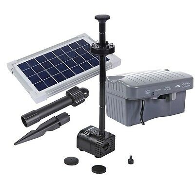Solar Powered Fountain 330L/hr+LED Light + Battery SPBL3.5-320607D+FREE SHIPPING