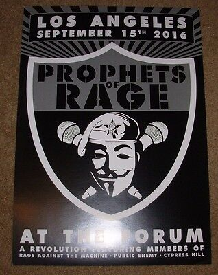 PROPHETS OF RAGE concert gig poster print LOS ANGELES 2016 TOUR against machine