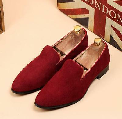 Men's Casual pointy toe suede leather casual formal loafer shoes oxford