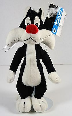 """Sylvester the Cat Plush Bean Bag by Warner Brothers 9"""" tall"""