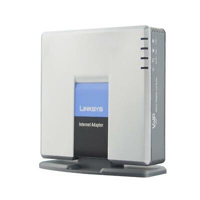 Unlocked Linksys SPA2102 VoIP Phone Adapter with router SIP gateway 2 phone port