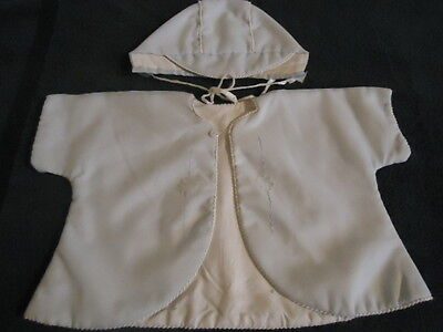 Vintage Baby/Toddler Boys Jacket and Cap - Light Blue & White - early 60's