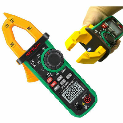 New Mastech MS2109A Digital AC DC Clamp Meter True RMSTemp HZ Capacitance Tester