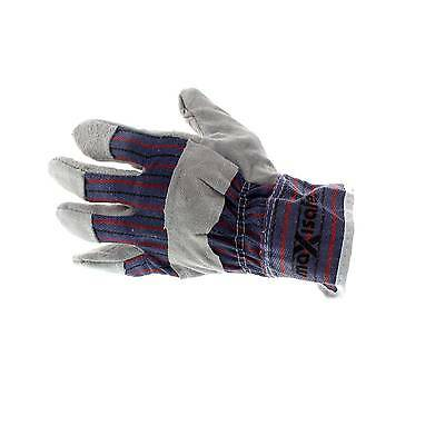 Maxisafe Candy Stripe Gloves XL Pair Leather Safety Cuff Multipurpose Comfort
