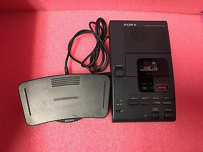 Sony M-2000 Microcassette Transcriber With Foot Control Fs-80