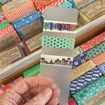 Washi Tape Sample Supplies - Pvc Cards - Set Of 5 - 150Mm X 50Mm Washi On The Go