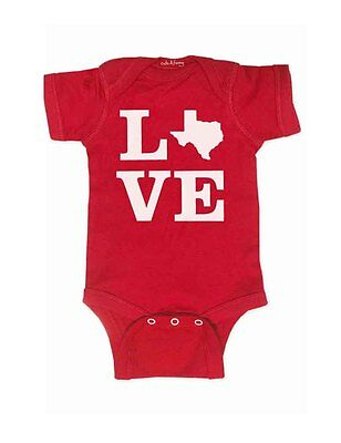 Texas Love Map cute & funny baby one piece bodysuit shower gift