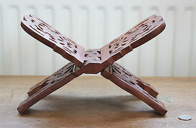 Wooden Hand Carved Folding Book Stand