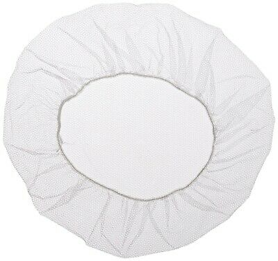 """Shield Safety 21"""" Nylon Hair Net Cap White for Medical Food Service 6000 Pieces"""