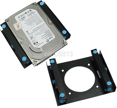 "3.5"" SSD HDD To 5.25"" Shock Absorption Hard Drive Mount Bracket Dock For 8cm au^"