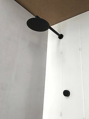 matt black Rose gold copper gold shower head set 200 mm round wall arm new mixer