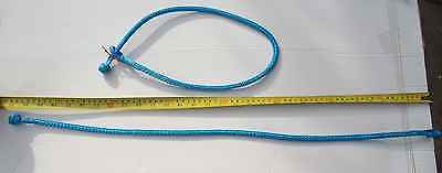 Pack of 2 Blue 5mm soft Dyneema® shackle T:2500kg weight: 31gr! with release tag