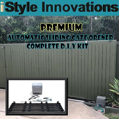 Premium Heavy Duty Automatic Sliding Gate Opener - Complete D.i.y Kit