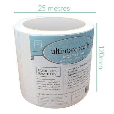 Ultimate Crafts Diecut'N Bond Roll Double-Sided Tape 25m x 12cm  ULT157644