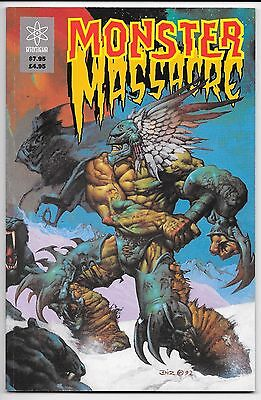 Atomeka Press -  Monster Massacre - 1993 Paperback Graphic Novel