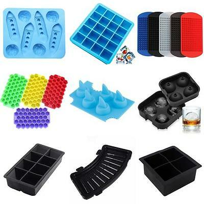 Silicone Ice Cube Tray Freeze Mold Bar Jelly Pudding Chocolate  Moulds Maker DIY