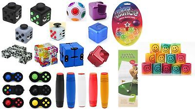 Fidget Cube Spinner Desk Toy Anxiety Adults Stress Relief Cubes ADHD fidgit