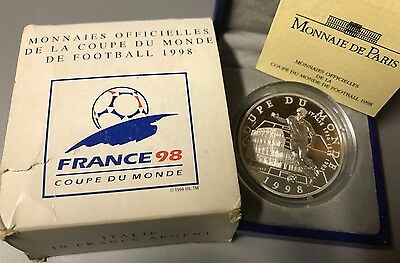 France 1997 Italie 10 Francs Silver Proof FOOTBALL WORLD CUP 1998 ITALY