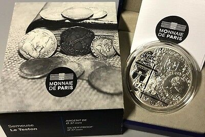 France 2016 Semeuse Teston 10 euro Silver Proof The Sower €
