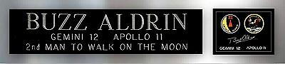 Buzz Aldrin Autograph Apollo 11 Gemini 12 Nameplate Moonwalkers for signed Photo