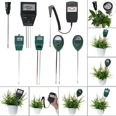 2in 1 Soil Moisture pH Meter Tester Garden Flower Plant Hydroponics Analyzer