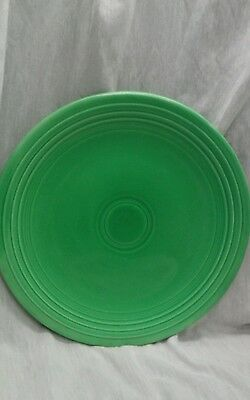 Vintage Fiesta green chop plate charger platter 14 inches
