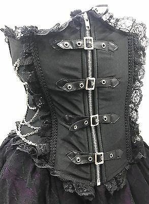 SDL Industrial Gothic Side Chain Corseted Waspi With Front Zip Size 10/12
