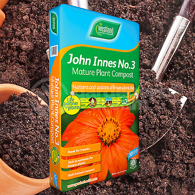 Westland John Innes No3 30L Mature Compost Plant Shrub Garden Soil Root Builder