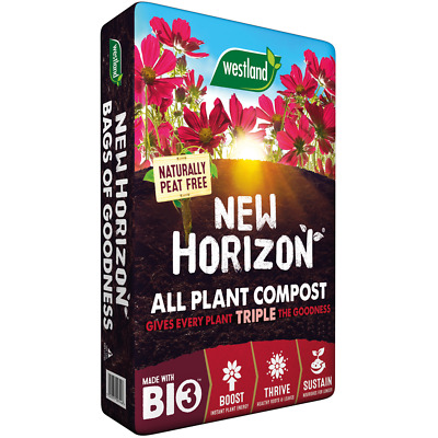 Westland 50L New Horizon Peat Free Compost Multi Purpose Garden Plant  Soil
