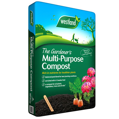 20 x Westland 75L Multi Purpose Compost Garden Plant Hanging Basket Planter Soil