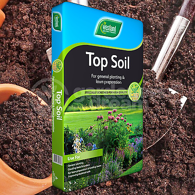 Westland 35L Top Soil Multi Purpose For Grass Seed Lawns Planting Vegetables