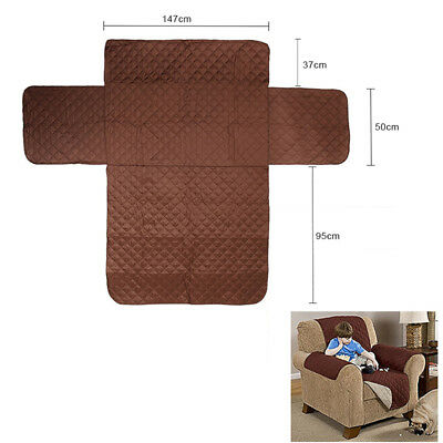 QUILTED WATERPROOF 3 SEATER SOFA COVER PET DOG KIDS FURNITURE PROTECTOR Couch