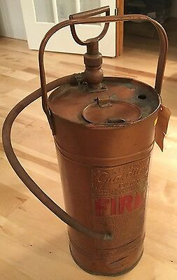 Guardian 5 Gallon Copper-Plated Fire Extinguisher Brockville Army Vintage ~1950s