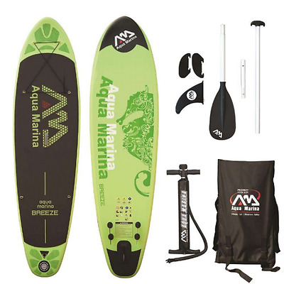 Aqua Marina Breeze Inflatable Stand Up Paddle Board SUP Package Inc Paddle