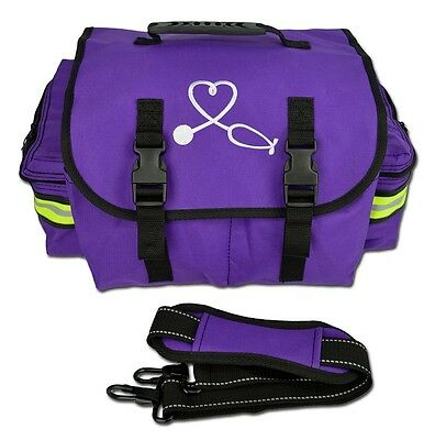 PURPLE Lightning X Small First Responder Bag w/Dividers,Medical Trauma First Aid