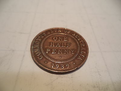 1939  KGV Half PENNY Fine/Very Fine  RARE VERY OLD COLLECTION GREAT INVESTMENT