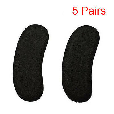 5 Pairs Gel Silicone Heel Grip Back Liner Shoe Insole Pad Foot Care Protector