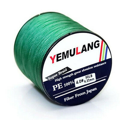 4 Strand Spectra 100% PE Dyneema Braid Fishing Line Green 100M 300M 500M 1000M