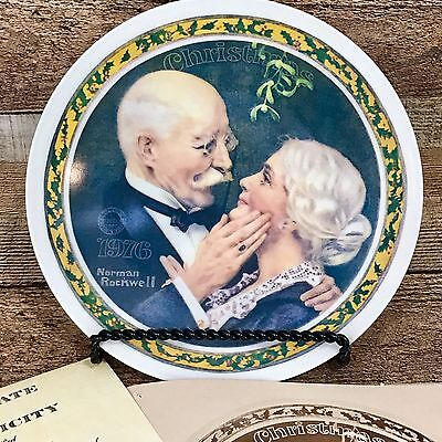 Edwin Knowles China Norman Rockwell Collector's Plate Golden Christmas 1976