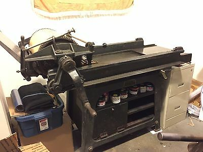 Vandercook #17 Letterpress Cylinder Press with automatic inking Proof Press