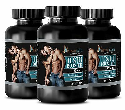 Vitamin D - TESTO BOOSTER 855mg - energy vitamins and supplements - 3 Bottles