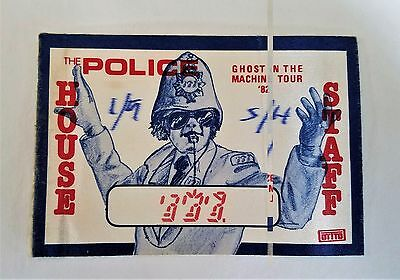 "RaRe (1982) THE POLICE ""Ghost in the machine Tour"" rock music Backstage PASS"