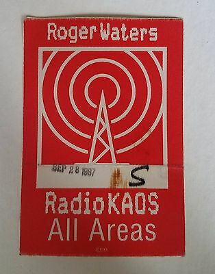 RaRe (1987) ROGER WATERS 'radio kaos' pink floyd music Backstage PASS